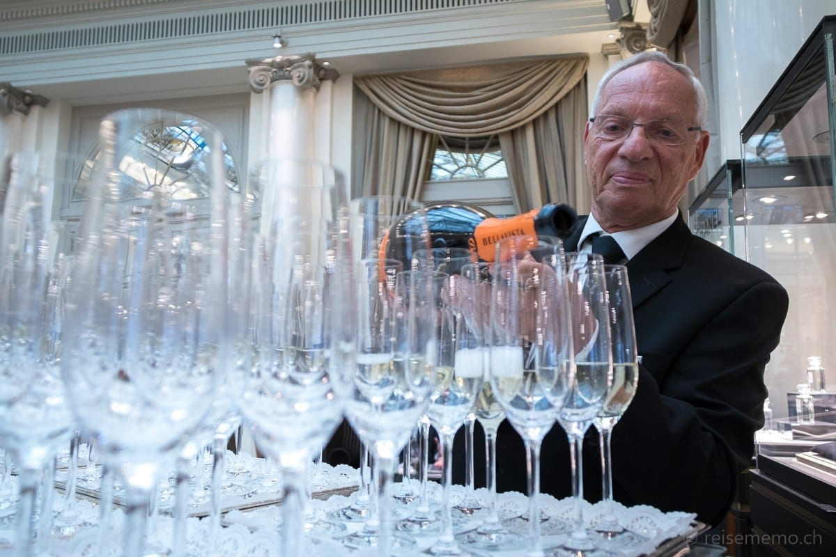 Stefan Frauendiener am Bellavista Champagner - S. Pellegrino Sapori Ticino