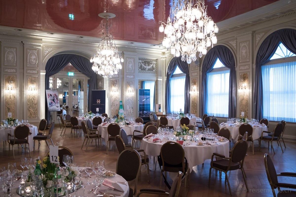 Bankettsaal im Bellevue Palace Bern S. Pellegrino Sapori Ticino
