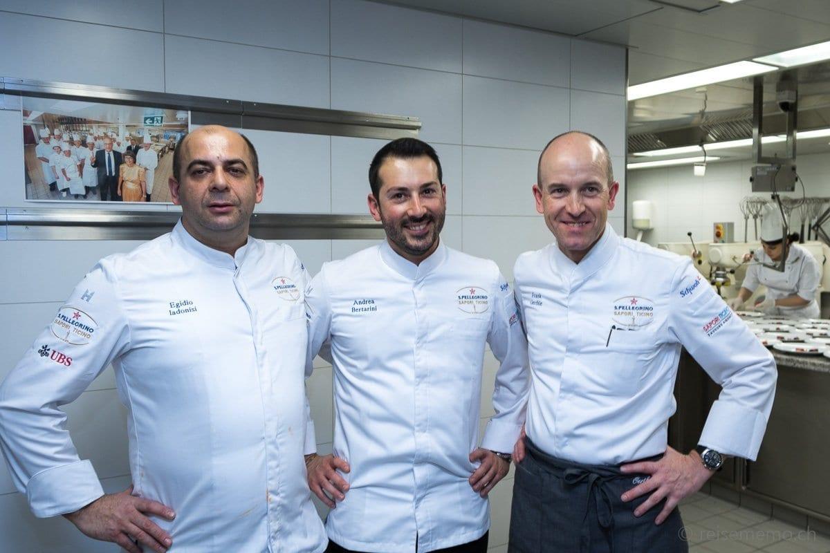 v.l. Chefs Egidio Iadonisi, Andrea Bertarini, Frank Oerthle