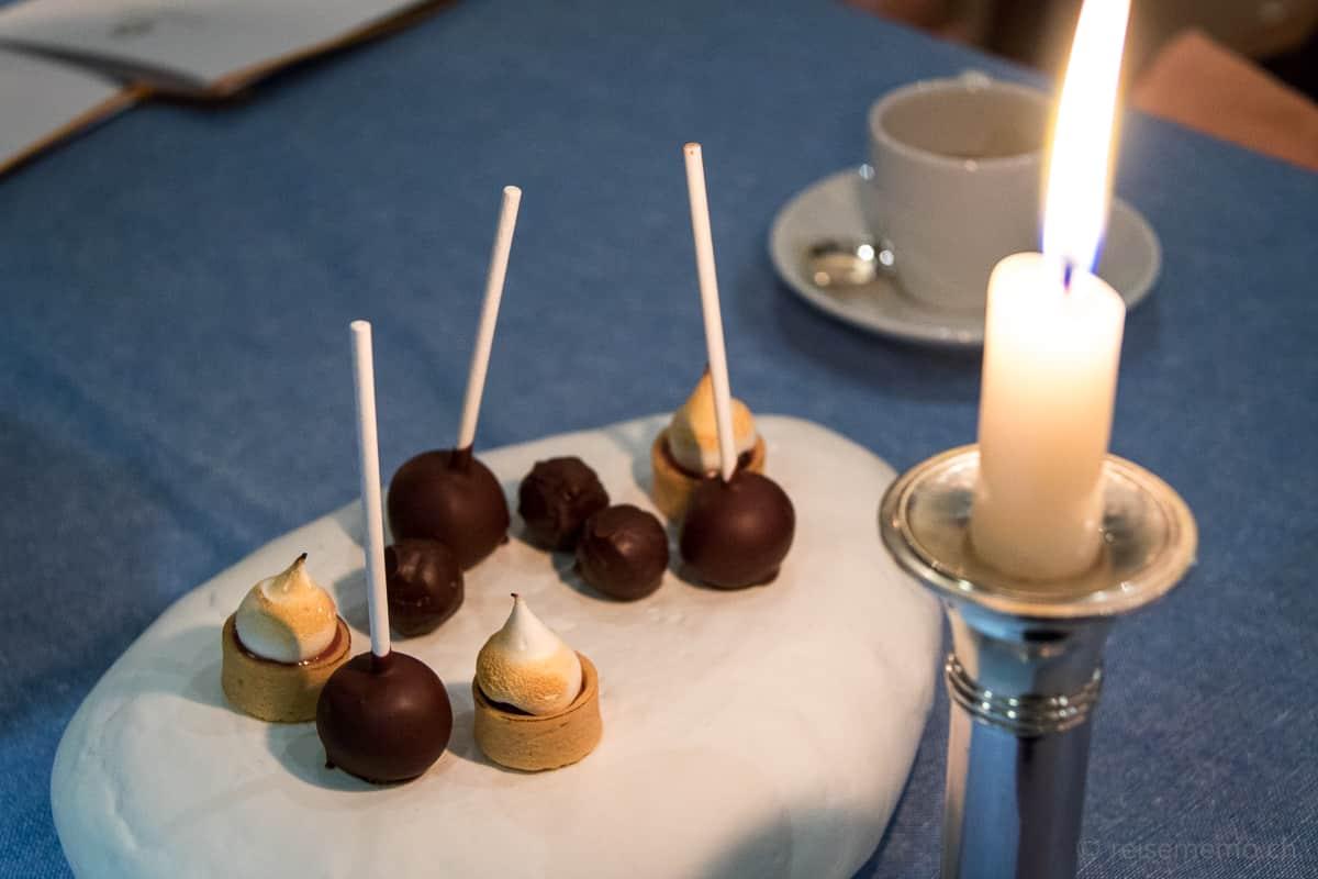 Friandises zum Kaffee in der Locanda Barbarossa