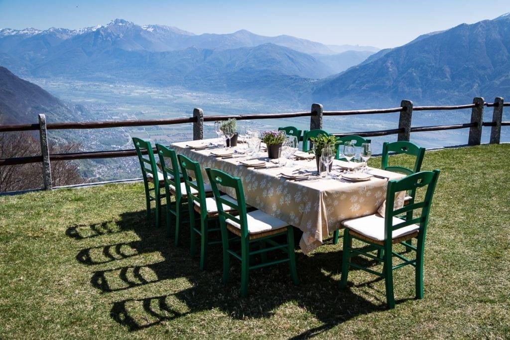 Mittagessen im Rustico Castello del Sole