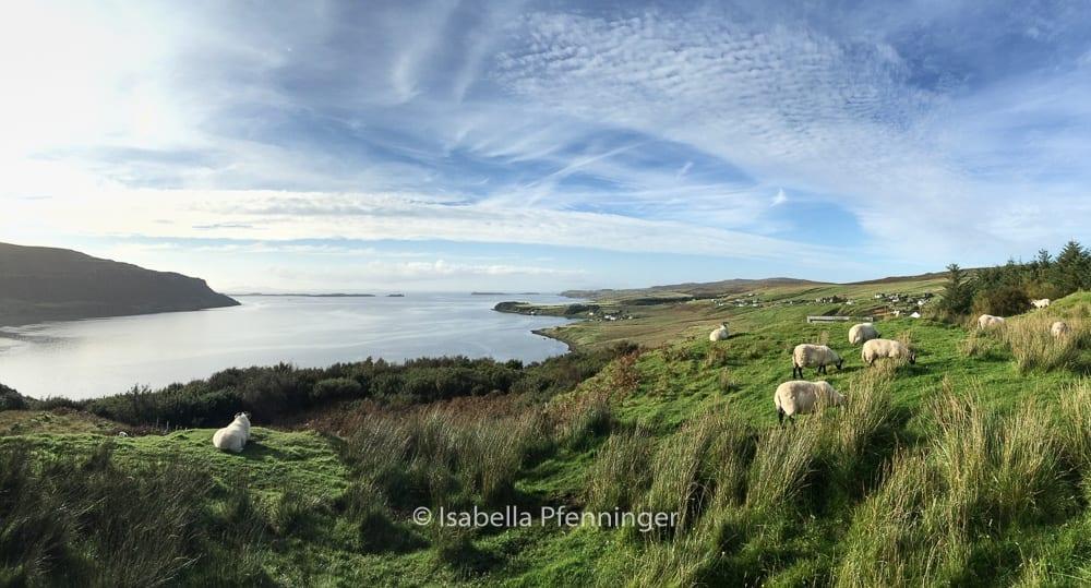 Sonne und Landschaft in Schottland