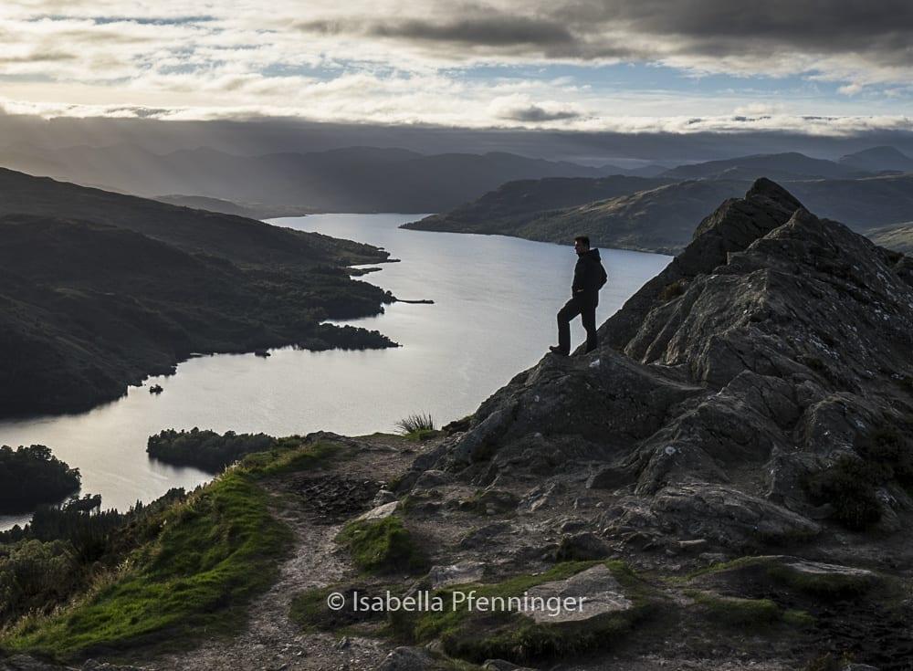 Die Sicht vom Ben A'an in Schottland