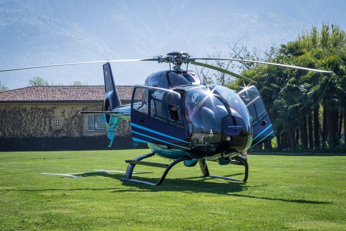 Swiss Helicopter beim Castello del Sole Ascona