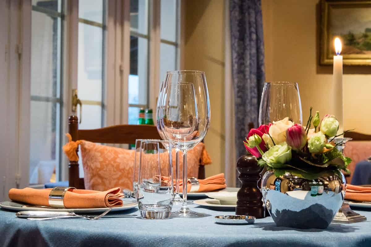 Tischgedeck im Restaurant Locanda Barbarossa
