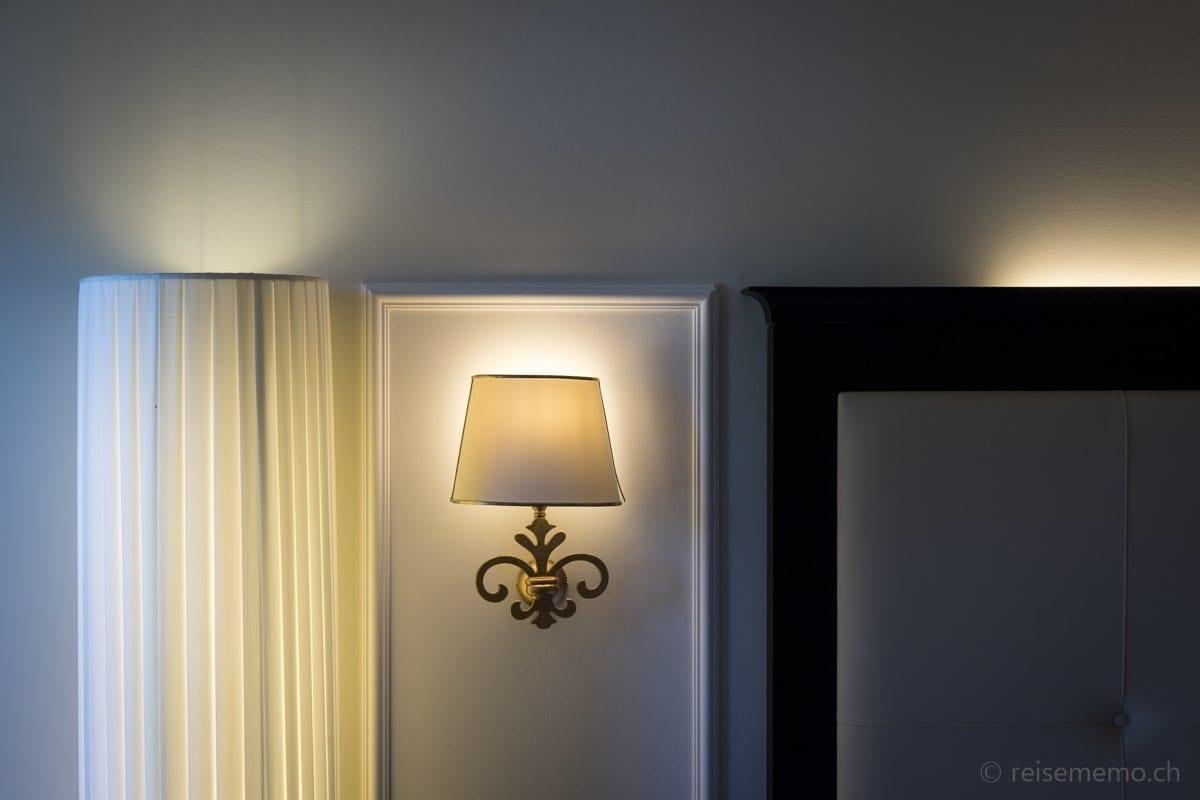 Leuchten im Hotelzimmer