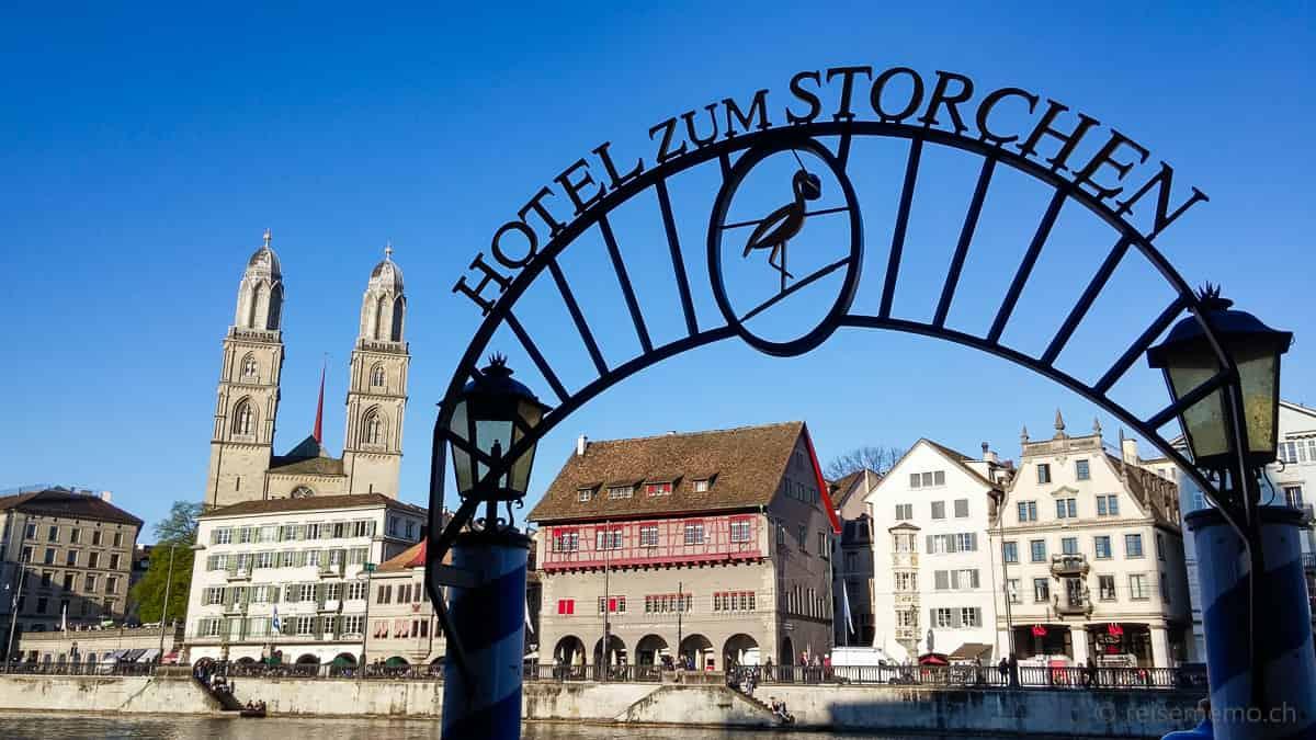 Hotel Storchen Zürich und Grossmünster Zürich