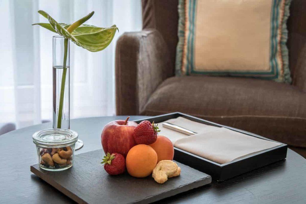 Früchte im Hotelzimmer