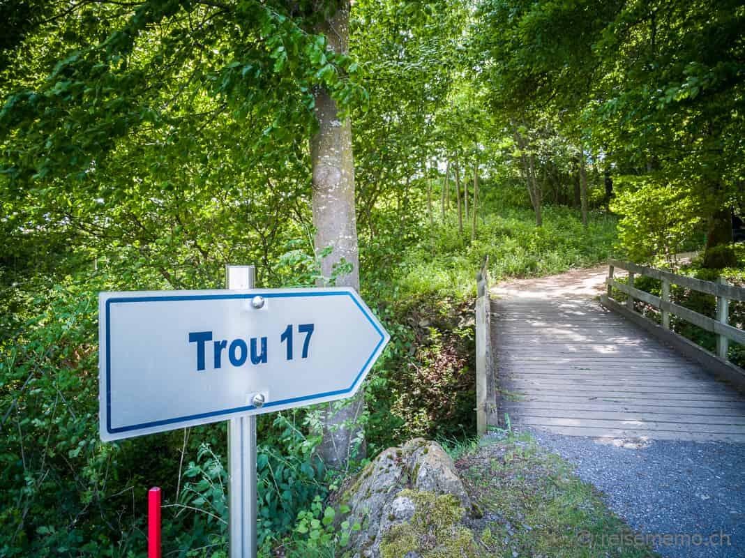 Golf de Lavaux, Brücke zu Loch 17