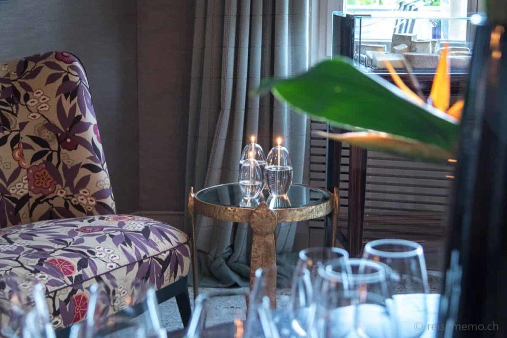 Lounge mit Oellampen