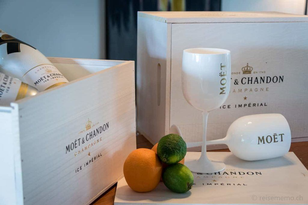Stilleben mit Moët & Chandon Champagner