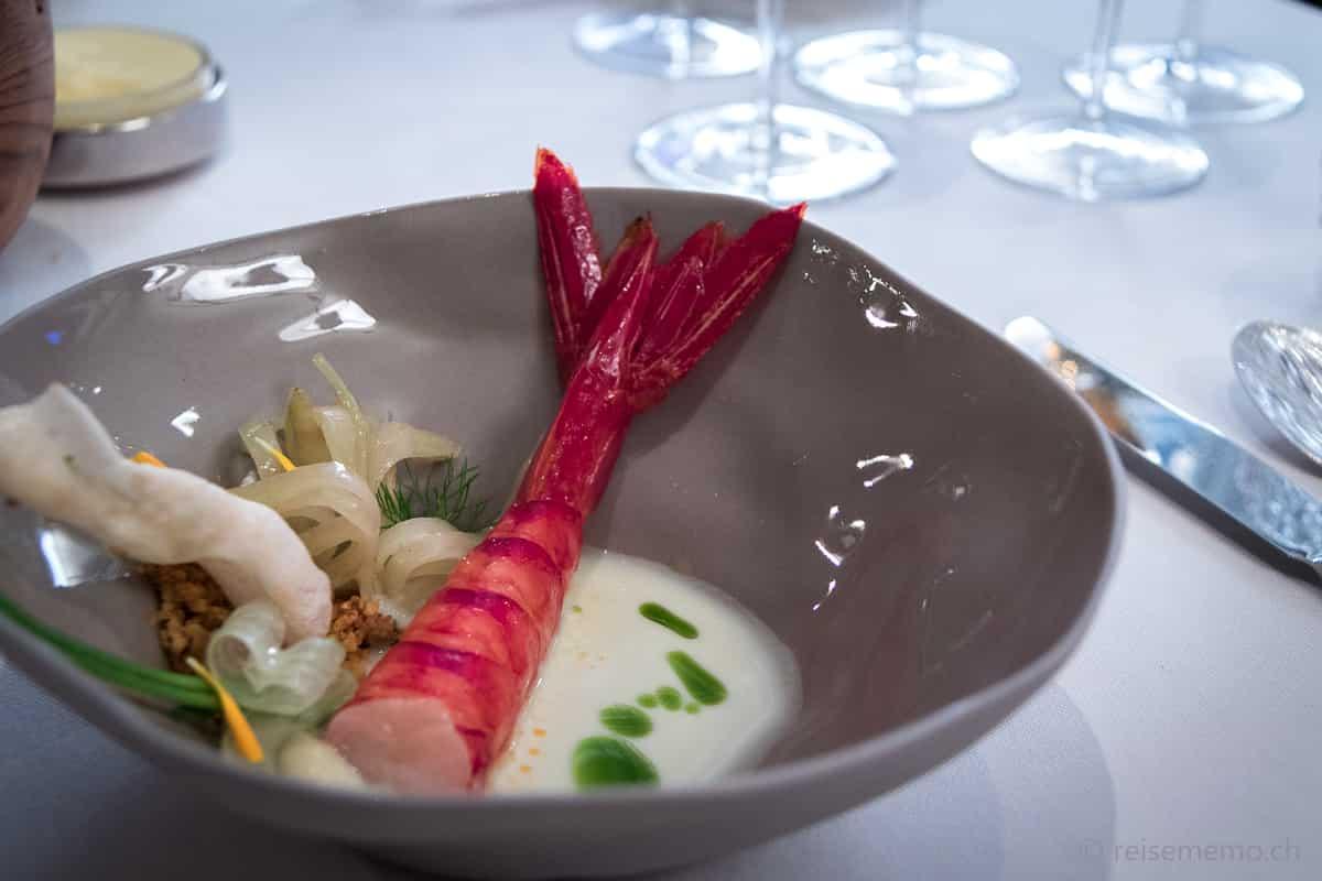 Garnele im Restaurant Ophelia Konstanz