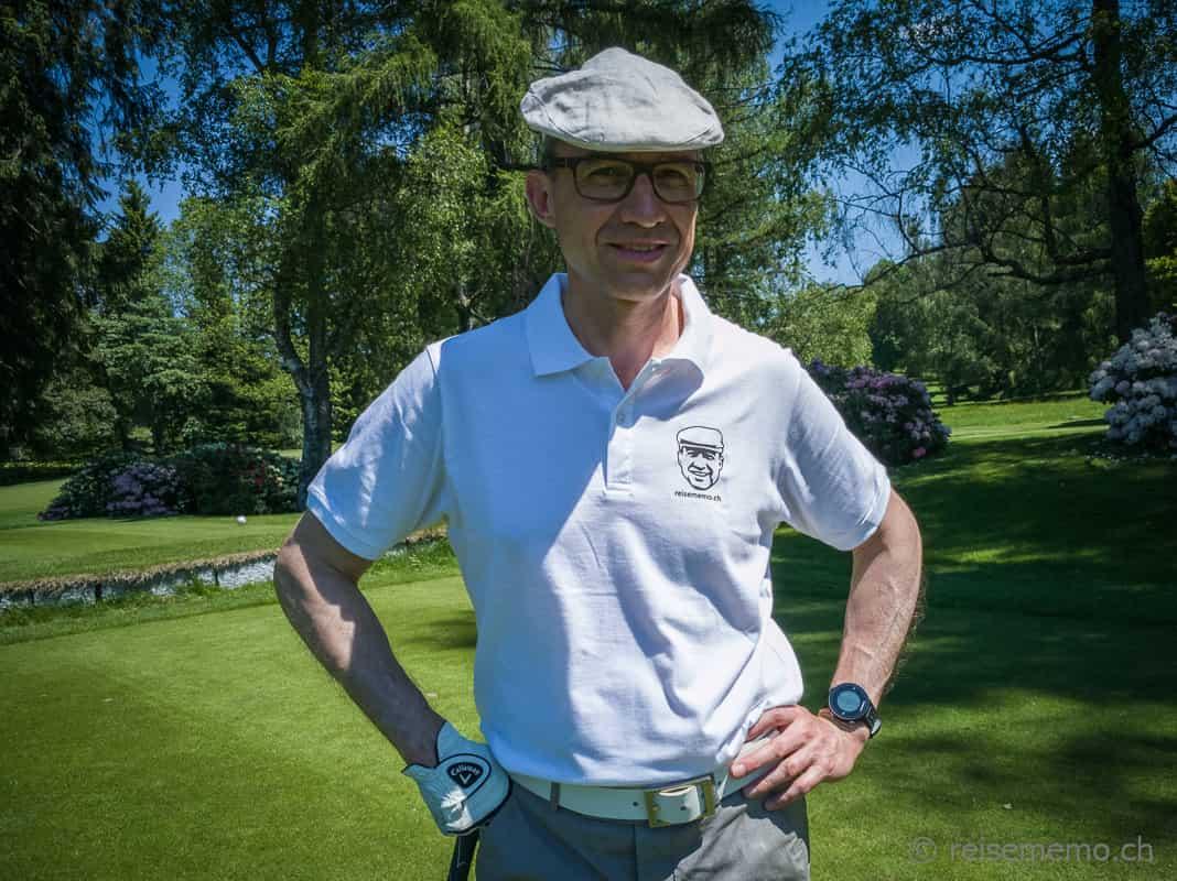 Walter auf dem Golfplatz Lausanne