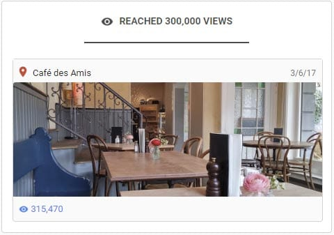 Review-Foto erreicht 17 Monate nach Publikation bei Google Maps 300'000 Ansichten