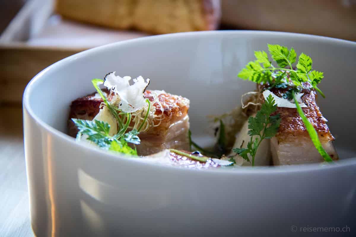 Schweinebauch Restaurant IGNIV