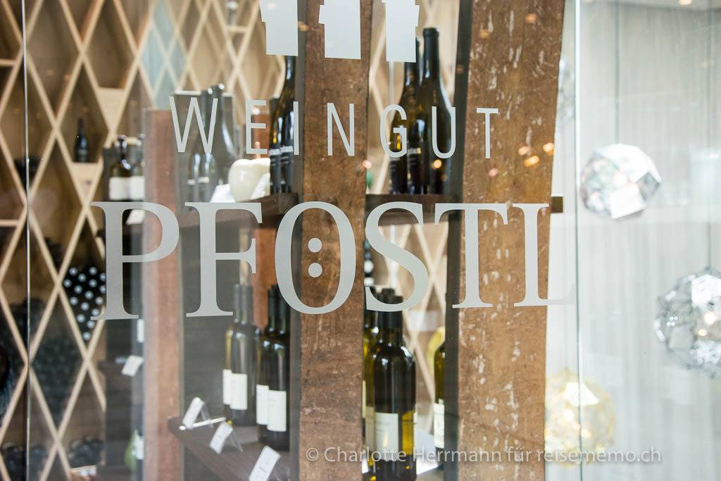 Eingang zum Weinshop