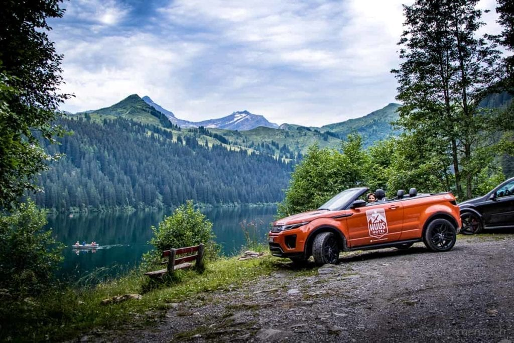 Evoque Cabrio am Arnensee