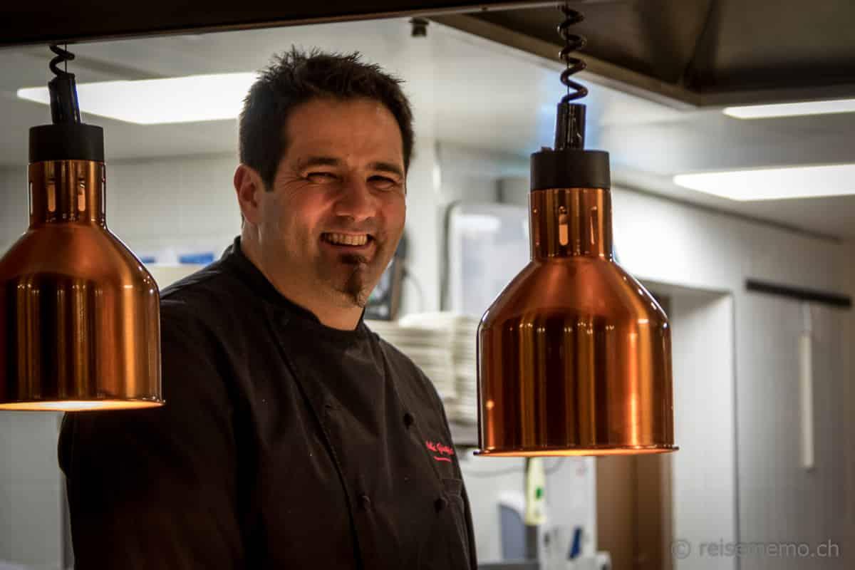 Chefkoch Giuseppe Colella im  Restaurant La Vue