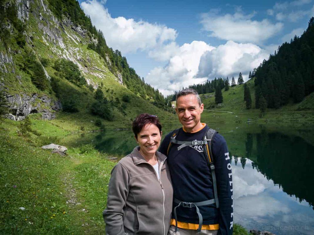 Katja Birrer und Walter Schärer am Talalpsee