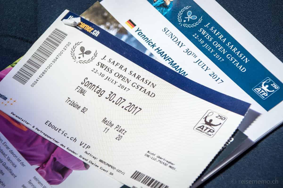 Eintrittskarten J. Safra Sarasin Swiss Open Gstaad