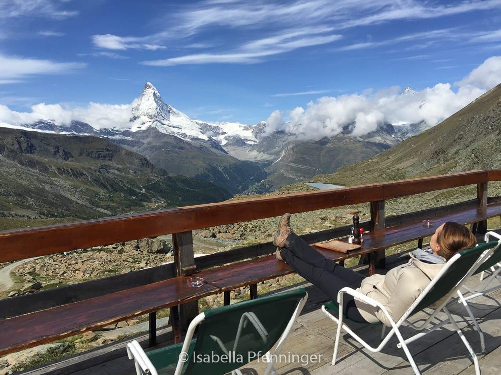 Blick aufs Matterhorn Zermatt