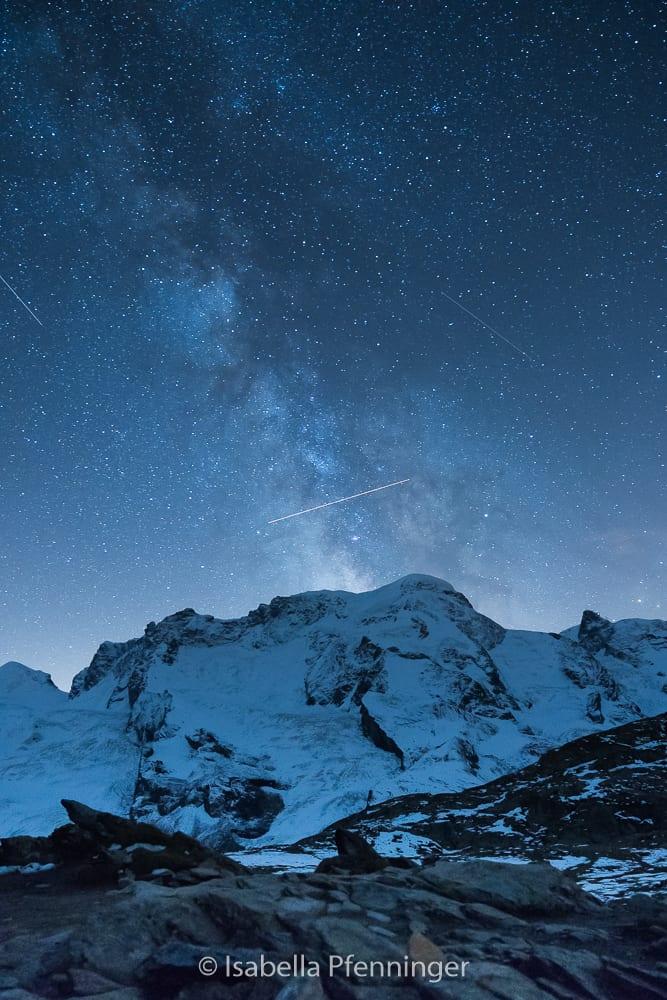 Sternschnuppen beim Riffelsee in Zermatt