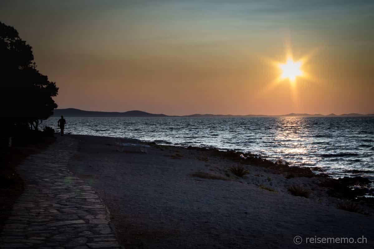 Sonnenuntergang beim Hotel Falkensteiner Iadera
