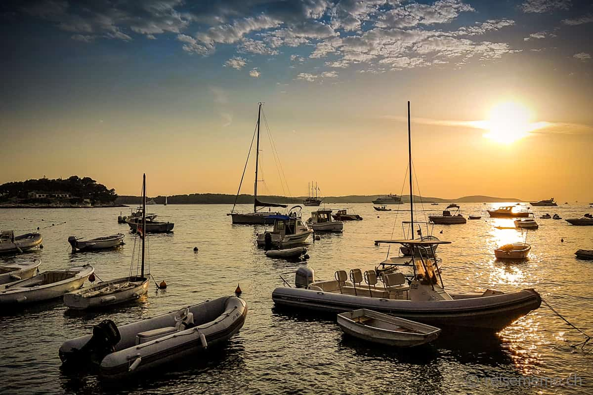 Sonnenuntergang Hvar Kroatien