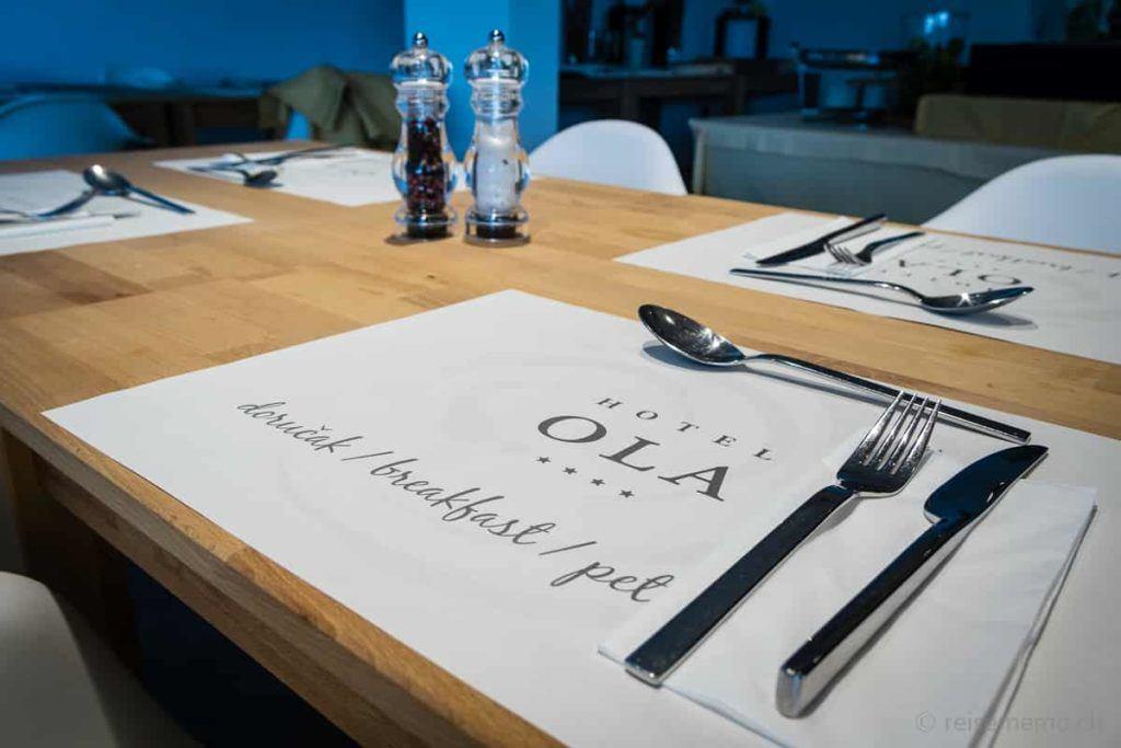 Tischset im Ola Hotel, Trogir