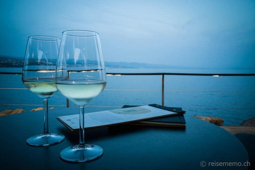 Kroatischer Chardonnay im Bevanda Relais & Châteaux in Opatija
