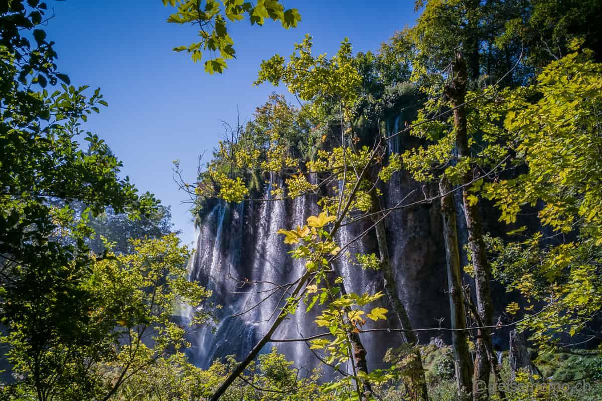 Veliki Slap Wasserfall Plitvicer Seen Kroatien