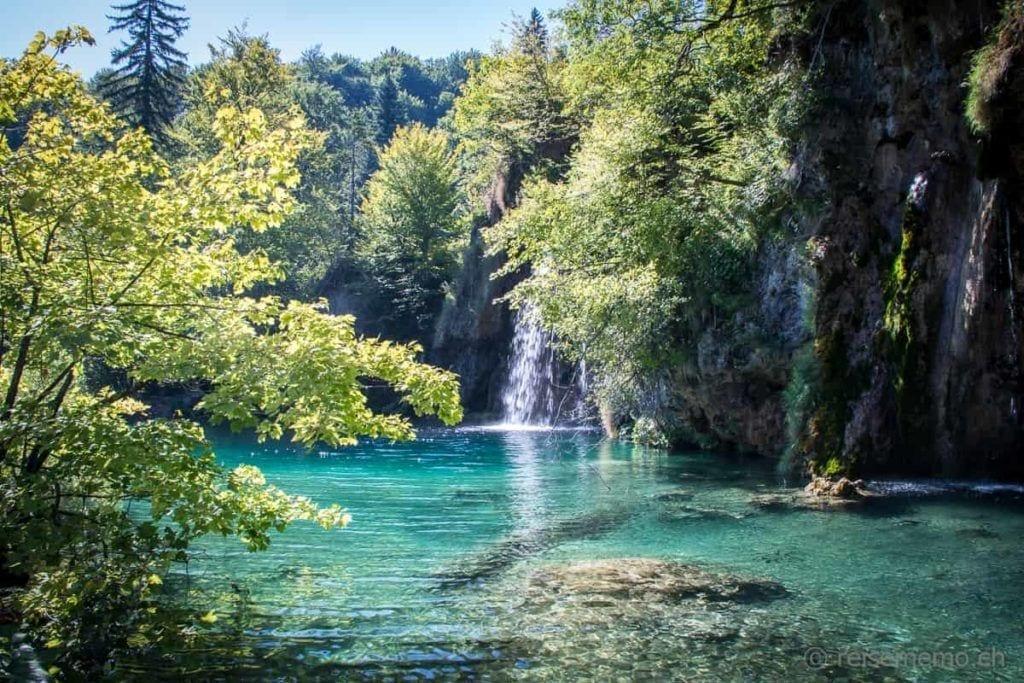 Plitvicer Seen Wasserfall in Kroatien