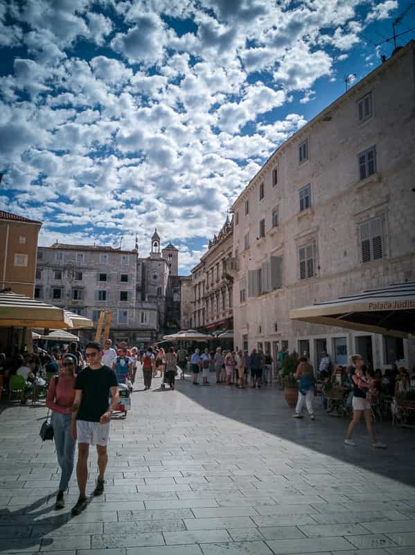 Fussgängerzone in Split