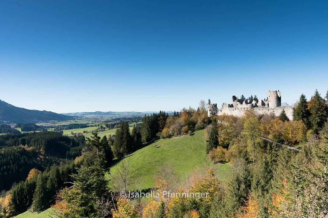 Aussicht Burgruine Hohenfreyberg