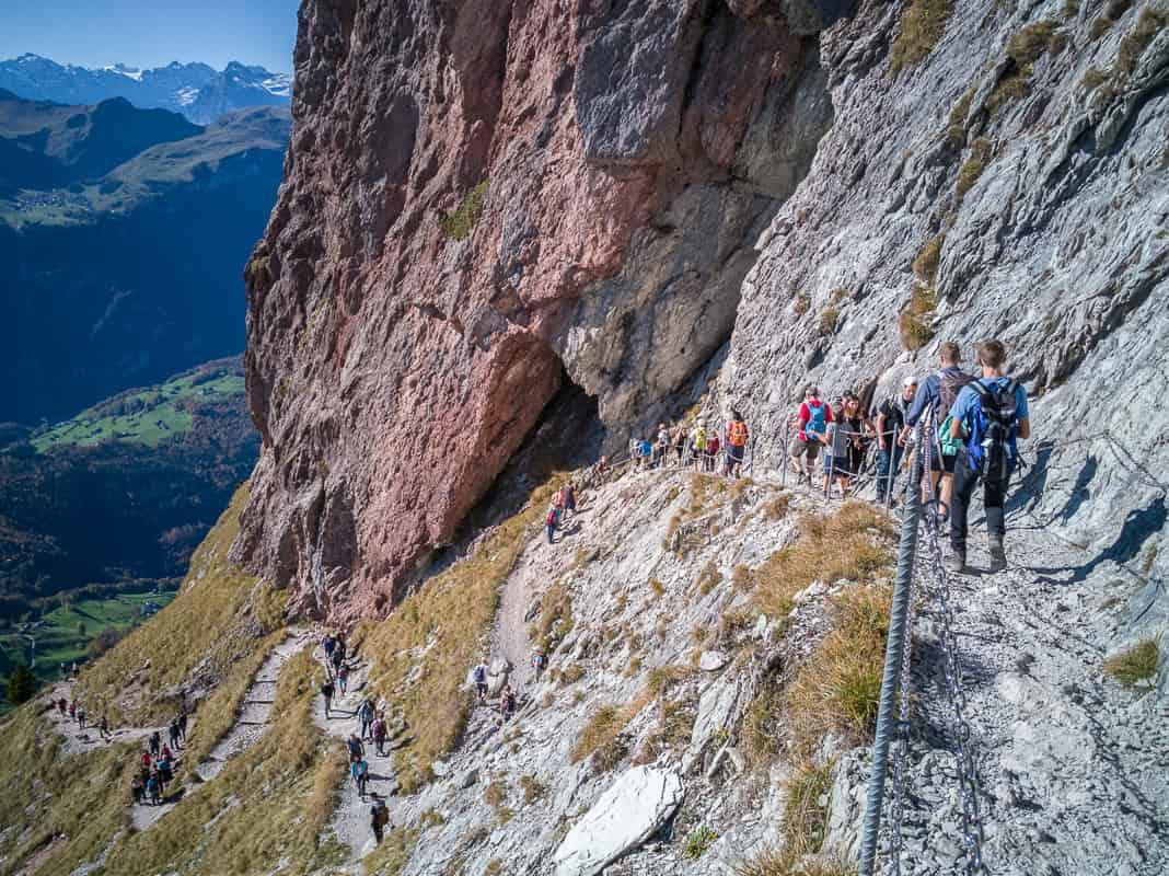 Beliebte Wanderung Grosser Mythen