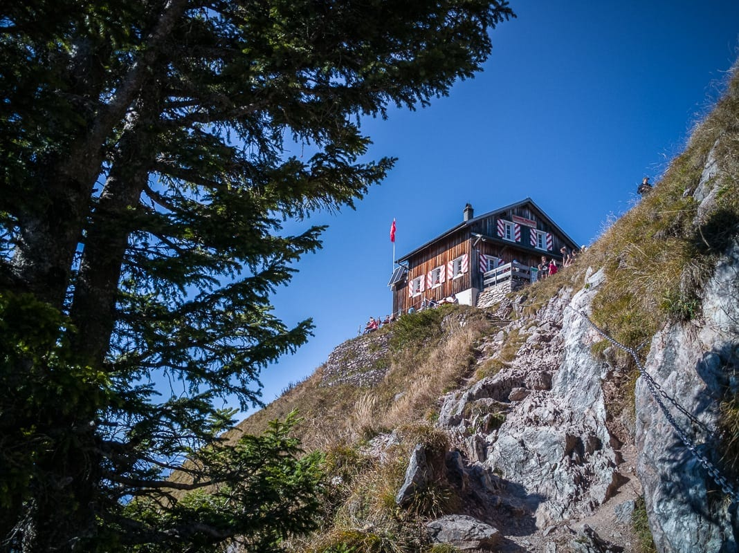 Wanderung Berggipfel Grosser Mythen Bergrestaurant