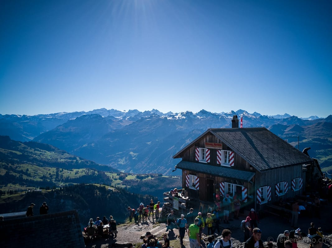 Bergrestaurant auf dem Grossen Mythen