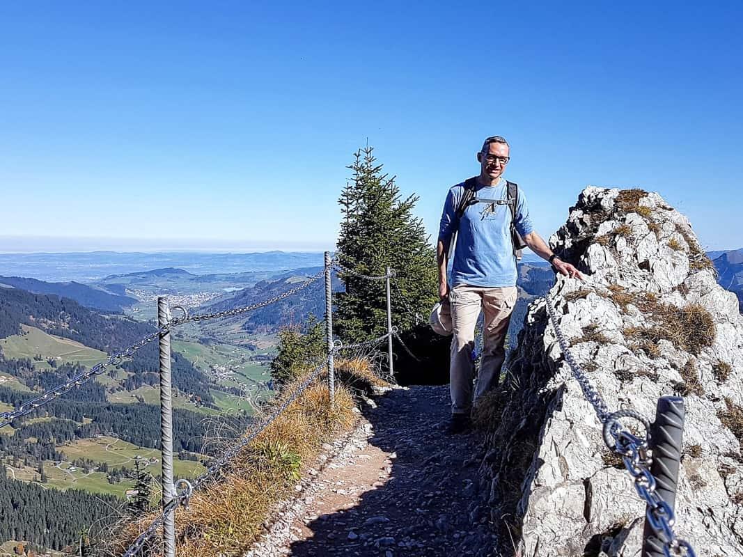 Walter Schärer Wanderung Gipfel Grosser Mythen