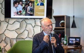Philippe Gombert an der jährlichen Pressekonferenz 2018