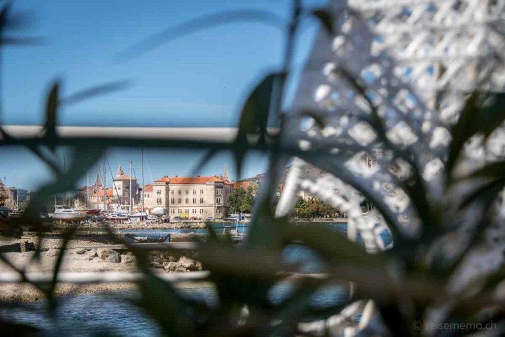 Aussicht vom Beach Club auf Trogir