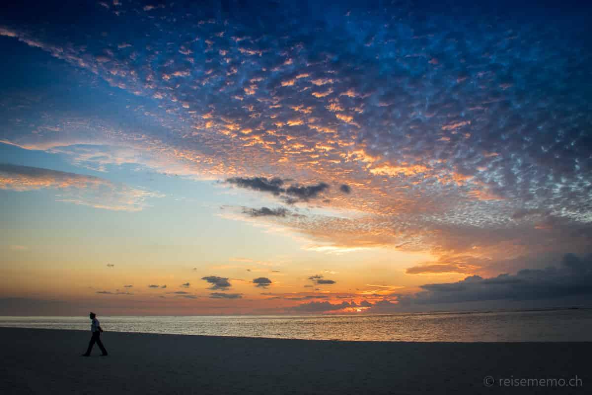 Wächter am Beachcomber Dinarobin Strand