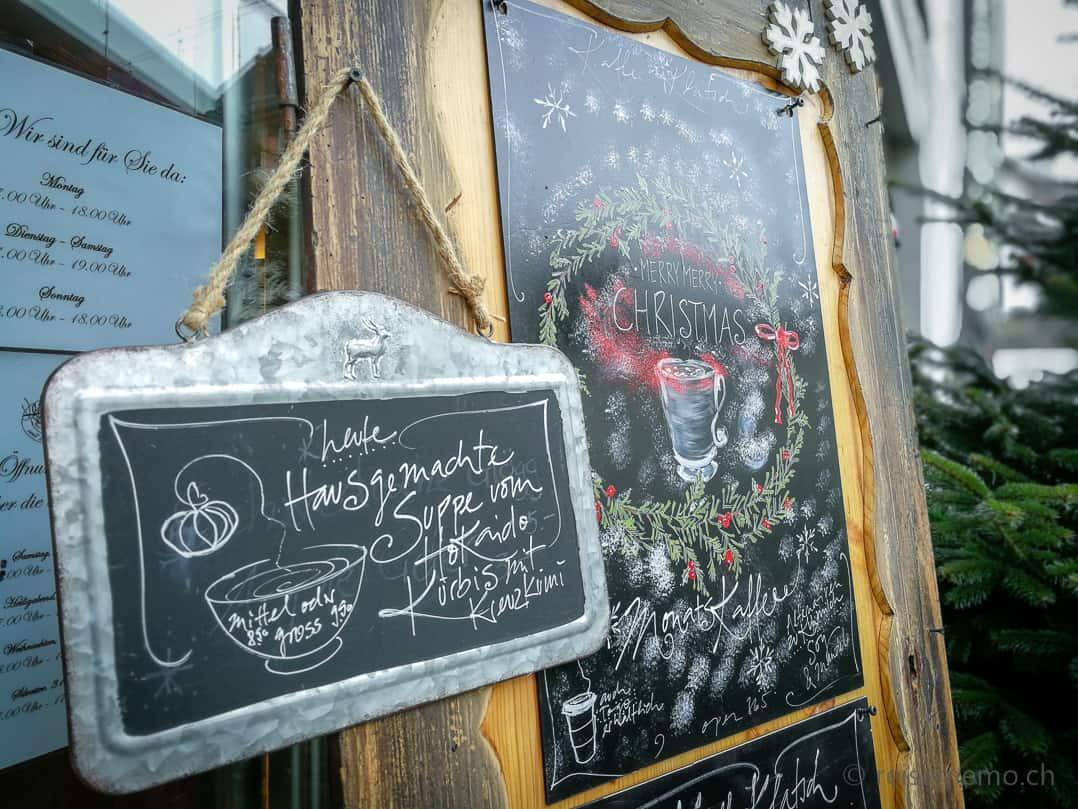 Weihnachtskaffee und hausgemachte Suppe im KaffeeKlatsch Rapperswil