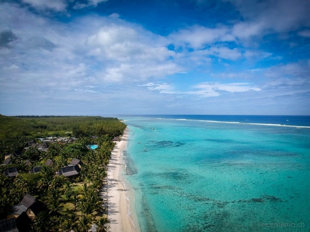 Strand von Le Morne in Mauritius