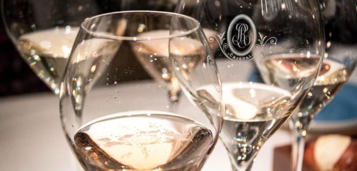 Champagnergläser am Saveurs Gstaad im Sonnenberg Zürich mit Louis Roederer Brut Nature, Blanc de Blanc, Vintage 2009