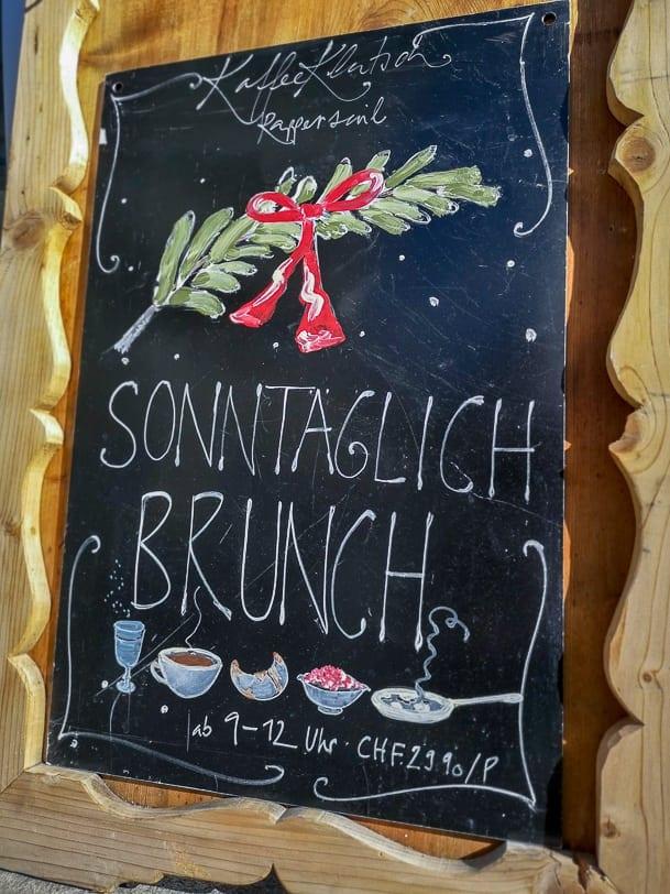 Sonntagsbrunch von 9 bis 12 Uhr à 29.90 pro Person im KaffeeKlatsch Rapperswil