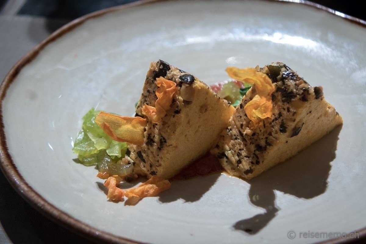 Karotten-Kürbis-Terrine im Restaurant Twist