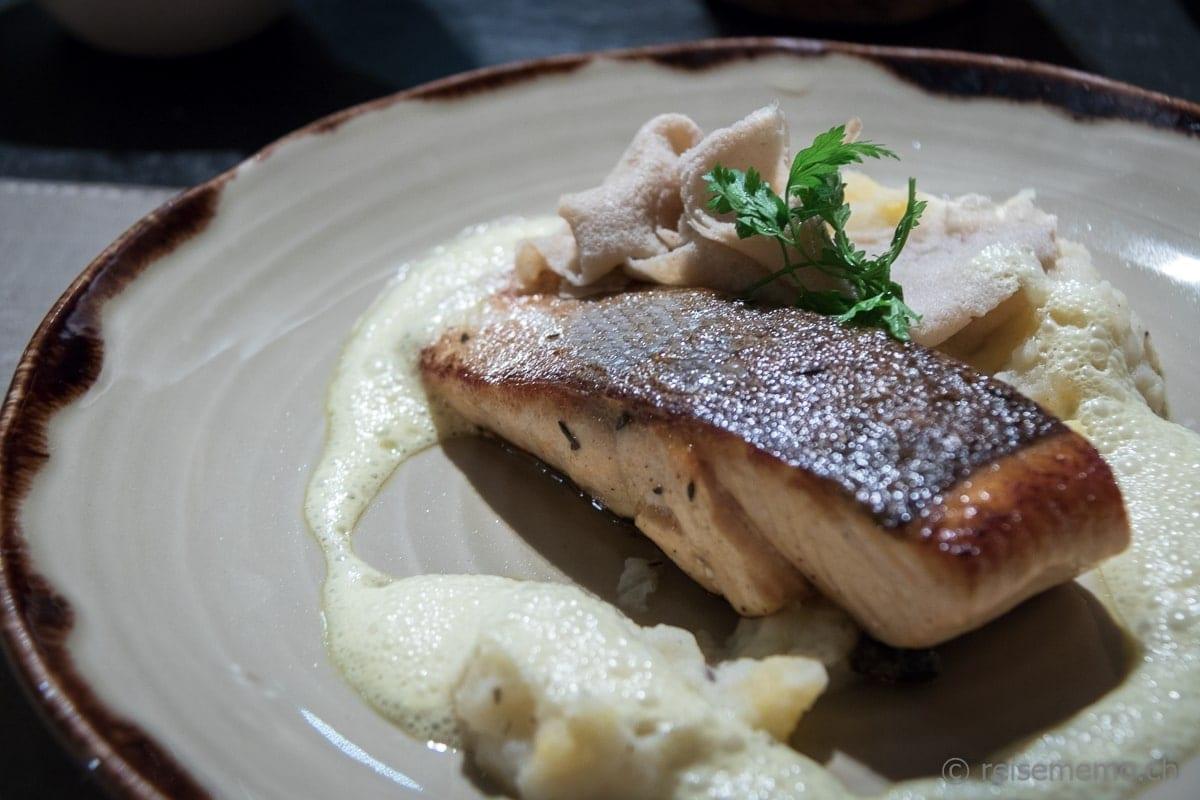 Lachs Hauptspeise Restaurant Twist