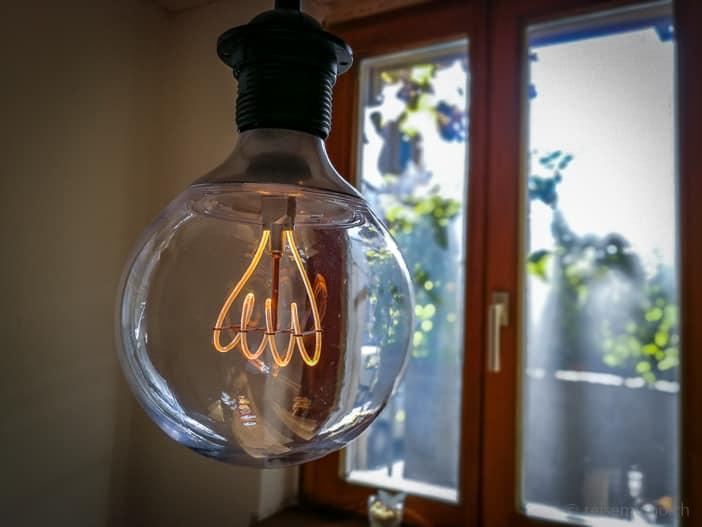 Lampe im Kafi Paradiesli
