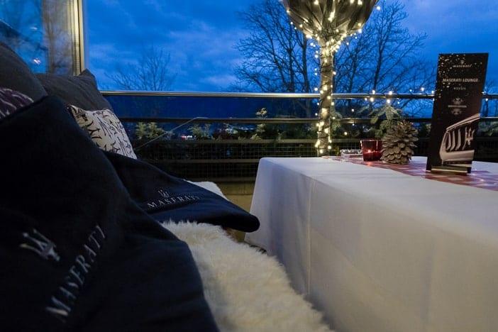Maserati-Decken für das Open-Air Fondue