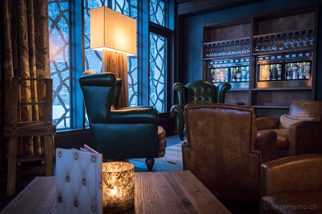 """Gemütliche Lounge im Valsana Arosa """"Wohnzimmer"""""""
